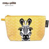 【虎兒寶】coqenpate 法國有機棉無毒環保布包 / 大大水堅包 - 斑馬