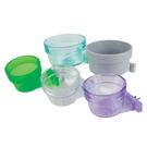 CBC-10 鼠兔鳥飼料碗 天竺鼠兔子餵食碗 鳥用飼料碗 透明紫 300cc 美國寵物第一品牌LIXIT®