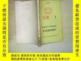 二手書博民逛書店ENGLISH罕見GRAMMAR EXERCISES 1Y180