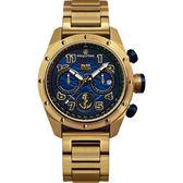 限量 elegantsis 中華民國海軍艦隊計時套錶-藍x金/47mm  ELJX47QS-ROCN BU