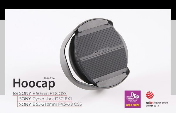我愛買#Hoocap半自動鏡頭蓋M6652A半自動蓋Sony索尼ALC-SH116遮光罩ALCSH116遮罩E 50mm F1.8 OSS