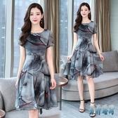 a字洋裝 2020流行夏天新款韓版復古高收腰顯瘦氣質小香風雪紡連身裙 TR1147 『男神港灣』