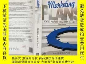 二手書博民逛書店Marketing罕見PLANS市場營銷計劃Y245797 出版
