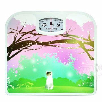 《一打就通》鄉村小屋/浪漫櫻花機械式體重計 TCL-65~甜美時尚. 耐用度佳~