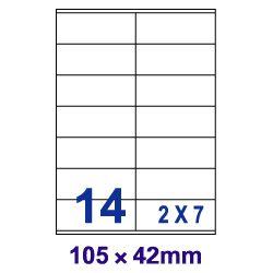 [奇奇文具]【裕德 Unistar 電腦標籤】裕德 U4452/US4452 電腦列印標籤紙/三用標籤/14格 (100張/盒)