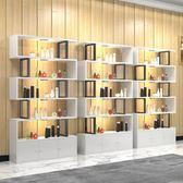 展示櫃產品展示櫃超市貨架貨櫃鞋店展架化妝品美容陳列櫃置物架帶門推薦xc