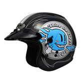 林森●SOL3/4安全帽,復古帽,半罩式,SO-3,SO3,彩繪,小太陽,黑藍