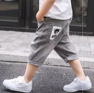 男童七分褲 牛仔短褲洋氣薄款男孩夏裝七分褲子夏季兒童中褲寶寶韓版【快速出貨八折鉅惠】