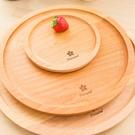 圓形櫸木 點心盤 麵包盤 實木無漆果盤 ( 中24cm)