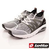 Lotto樂得-彈力飛織跑鞋款-LT7AMR5058-灰-男段-0