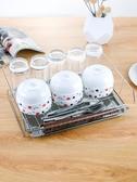 廚具收納架 杯架 家用玻璃水杯置物收納盒廚房瀝水籃 莎拉嘿幼