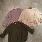 ZUCAS~(RT-6633)學院風寬鬆粗毛線純色長袖毛衣針織衫外套