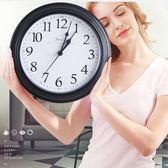限定款挂钟昕昕掛鐘客廳圓形創意時鐘掛表簡約現代家庭靜音電子石英鐘鐘表