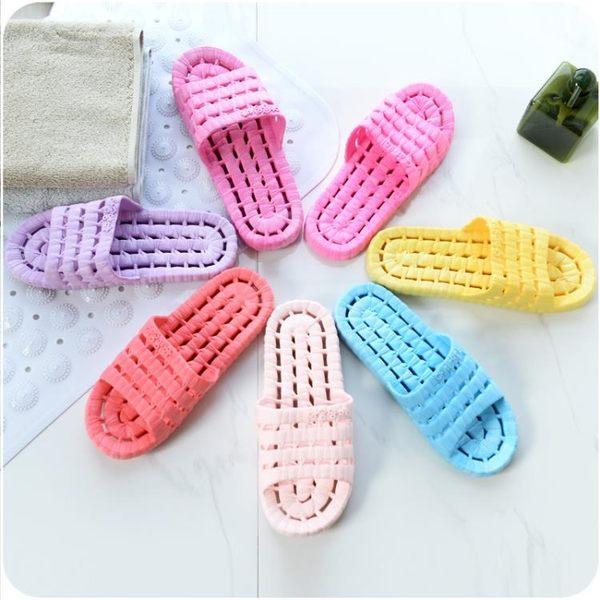 浴室拖鞋女夏季室內厚底情侶居家洗澡防滑木地板塑料軟底涼拖鞋男