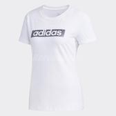 adidas T恤 GFX Line Box Tee 女款 短T 短袖 基本款 三條線 上衣 白 【ACS】 DY8601