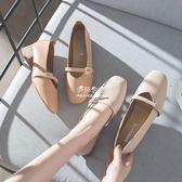 大東粗跟單鞋女奶奶鞋方頭瑪麗珍鞋女復古淺口低跟女鞋秋  伊莎公主