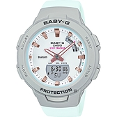 CASIO 卡西歐 BABY-G 運動系藍芽輕量化計步手表-薄荷綠 BSA-B100MC-8A
