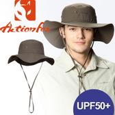 【ActionFox 挪威 抗UV透氣雙面遮陽帽 《叢林色》】631-4796/休閒帽/遮陽帽/登山/露營