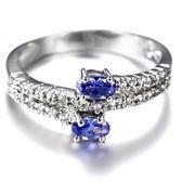 水晶戒指 925純銀-時尚精美細緻優雅生日情人節禮物女飾品73lj329【時尚巴黎】