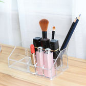 ✭慢思行✭【P274】無印風格系列-透明9格化妝品收納盒 化妝盒 壓克力 桌面 整理盒