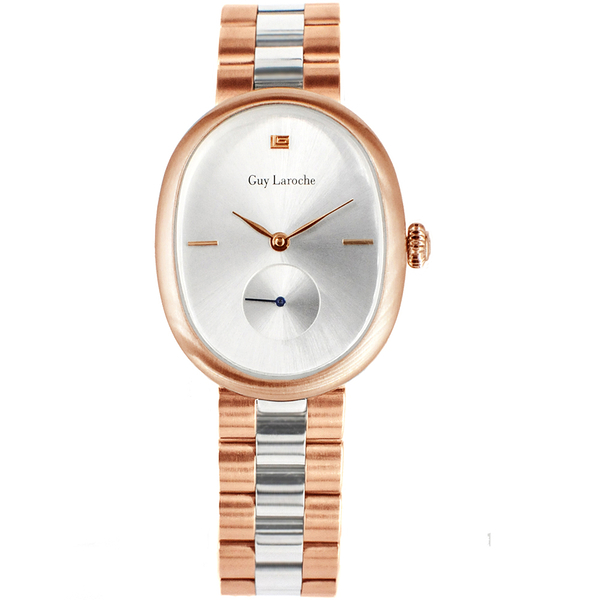 姬龍雪Guy Laroche Timepieces極簡典雅腕錶 LW5053B-07 雙色