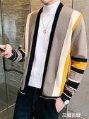 男士外套秋季2019新款針織開衫男外穿針織衫毛衣韓版潮流秋裝上衣『艾麗花園』