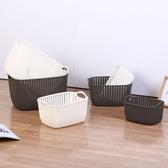 家用髒衣籃塑料藤編髒衣簍衛生間放衣服的收納框污衣籃玩具收納筐RM
