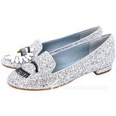 Chiara Ferragni Wonderland 雛菊眨眼亮片樂褔鞋(銀色) 1740069-30
