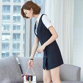 2018夏季新款工作服女面試職業裝女裝套裝OL修身連身裙工裝制服裙  巴黎街頭