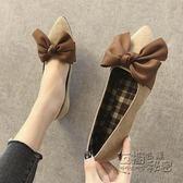 懶人鞋軟底豆豆鞋女春季新款奶奶鞋淺口尖頭單鞋懶人一腳蹬平底瓢鞋 衣櫥秘密