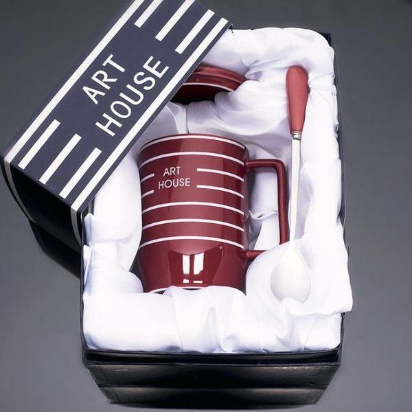 情侶杯創意簡約情侶杯子陶瓷馬克杯免運直出 交換禮物