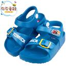 《布布童鞋》TOMICA多美速食小卡車藍色兒童超輕量拖鞋(15~18公分) [ A0M829B ]