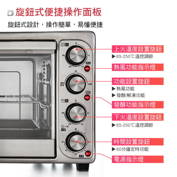 ^聖家^大家源35L雙溫控旋風專業電烤箱TCY-3835【全館刷卡分期+免運費】