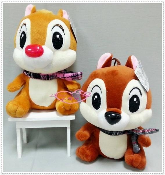 小花花日本精品♥ Hello Kitty 奇奇蒂蒂 娃娃玩偶 花栗鼠 松鼠 ( Dale)蒂蒂 粉圍巾12334209