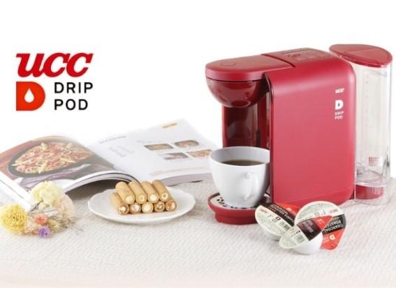 金時代書香咖啡 UCC DRIP POD咖啡萃取膠囊機 紅色 DP1-TW-R
