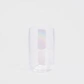 WAGA 美式 絢彩工藝300ml鍍色有機玻璃弧型杯