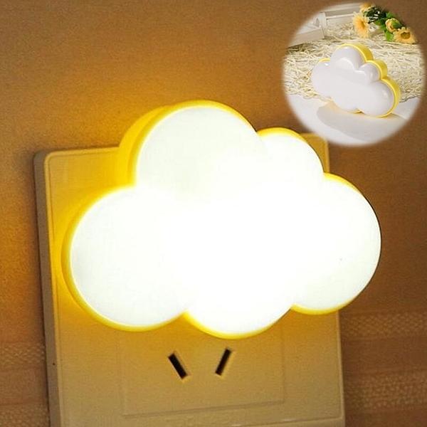 泰博思 雲朵LED感應燈 四葉草造型 小夜燈 光控感應 床頭燈【F0243】