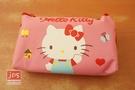 Hello Kitty 凱蒂貓 帆布手提筆袋 收納袋 揮手 970914