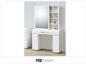 【MK億騰傢俱】ES108-04美夢思純白3.3尺鏡台(不含椅)