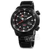 CITIZEN 星辰表 / BJ7086-57E / 光動能 簡易方位 兩地時間 日本製造 防水200米 不鏽鋼手錶 黑色 49mm