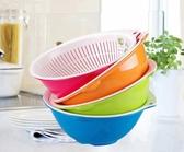 生活谷雙層洗菜籃子塑料瀝水籃廚房淘米洗菜盆家用客廳創意水果盤