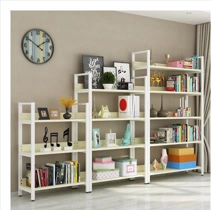 鋼木書架簡易鐵藝貨架牆上多層置物架客廳架子展示架書櫃定做