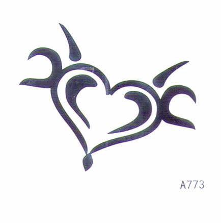 薇嘉雅  愛心  超炫圖案紋身貼紙 A773