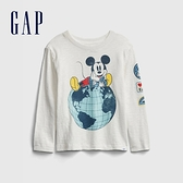Gap男幼童 Gap x Disney 迪士尼系列正反印花長袖T恤 649649-白色