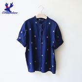 American Bluedeer-花朵刺繡上衣