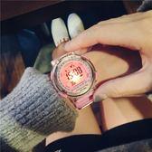 韓版簡約數字式電子女學生帶鬧鐘女孩兒童男計時錶 跑步電子手錶 范思蓮恩