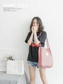 帆布包女單肩文藝小清新學生ins韓版ulzzang手提環保布袋子購物袋