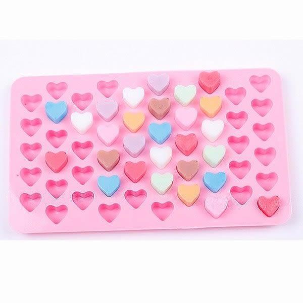 【BlueCat】迷你小愛心巧克力果凍矽膠模具 製冰盒 (55格)