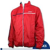 ASICS亞瑟士 防風夾克 平織風衣外套(紅)(2XL/3XL) 。XAZ521-22