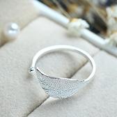 925純銀戒指-可愛綠葉生日情人節禮物女配件73an127【巴黎精品】